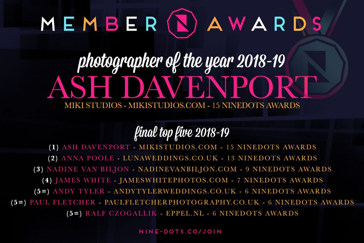 NineDots Wedding Photographer of the Year 2018-19
