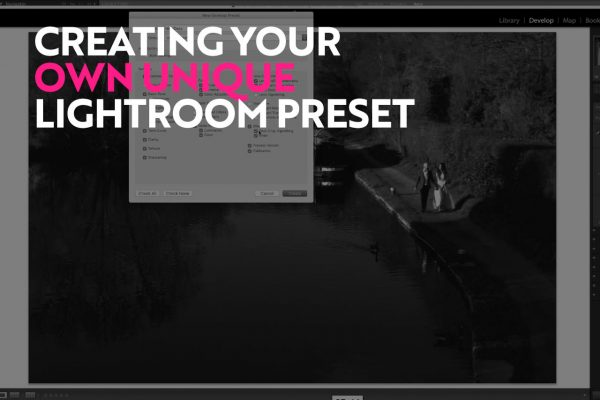 making a lightroom preset for wedding photography