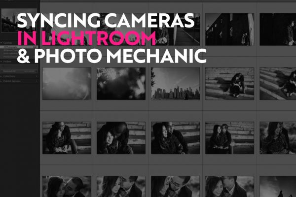 syncing camera times in lightroom photo mechanic